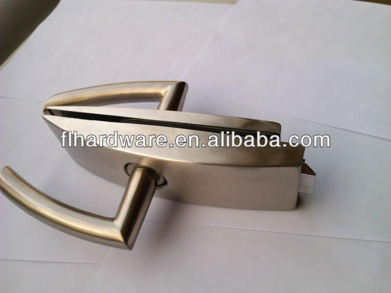 glass clamp door patch lock for glass door 1706